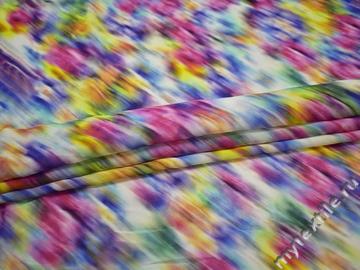 Вискоза разноцветная абстрактный принт ББ2112