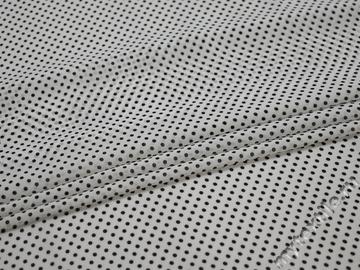 Шифон белый черный горох полиэстер ББ425