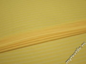 Шифон желтый в полоску полиэстер ББ4126