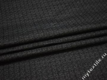 Хлопок серый черный геометрический узор ВД164