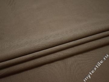 Костюмная оливковая ткань хлопок эластан ВА485