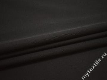 Костюмная коричневая ткань хлопок эластан ВА552