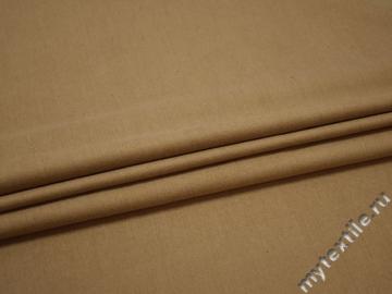 Костюмная бежевая ткань хлопок полиэстер ВД165