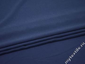 Плательная синяя ткань полиэстер эластан ДЁ44
