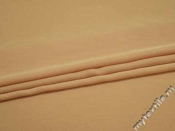 Плательная персиковая ткань полиэстер ДЁ46