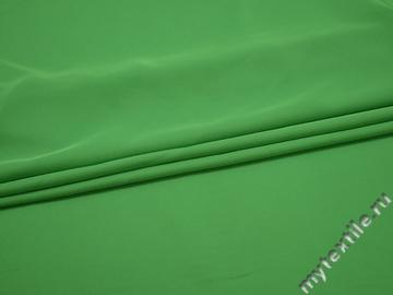 Плательная зеленая ткань полиэстер ДЁ49
