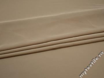 Плательная бежевая ткань полиэстер ДЁ412