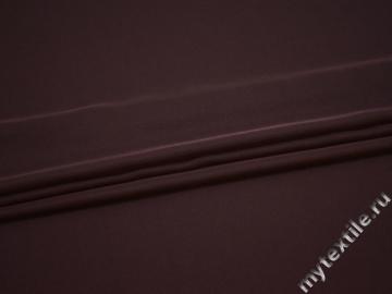 Плательная бордовая ткань полиэстер ДЁ415