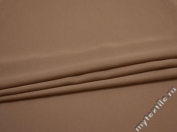 Плательная коричневая ткань полиэстер ДЁ425