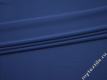 Трикотаж синий вискоза АД237