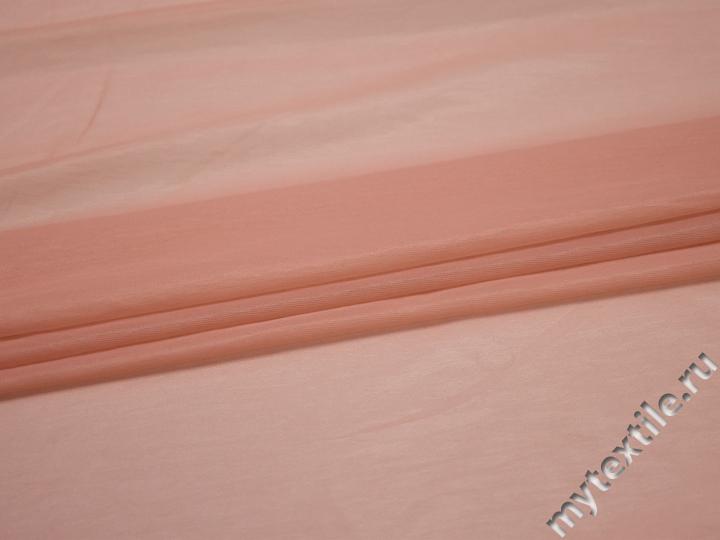 Сетка-стрейч подкладочная персиковая БГ375