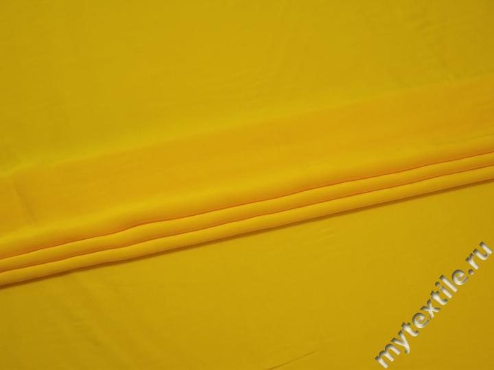 Шёлк-атлас желтый полиэстер эластан ЕБ3142