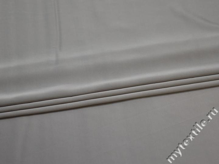 Шёлк-атлас серый полиэстер эластан ЕБ3144