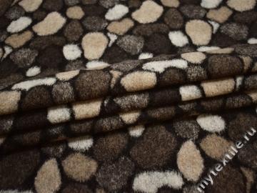 Пальтовая бежевая коричневая ткань шерсть полиэстер ГЖ224
