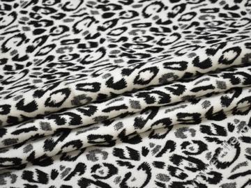 Пальтовая серая белая ткань абстракция полиэстер ГЖ119