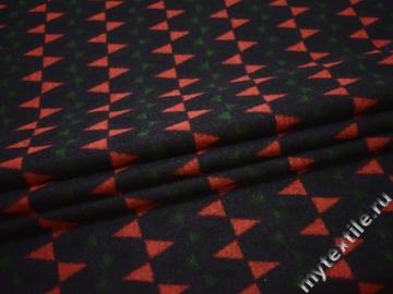 Пальтовая синяя красная ткань геометрия полиэстер ГЖ110