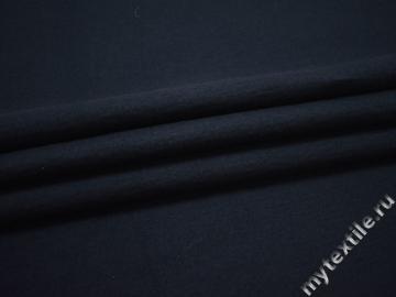 Пальтовая синяя ткань шерсть хлопок ГЁ118