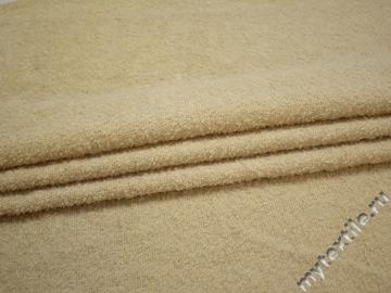 Пальтовая бежевая ткань шерсть ГЁ14
