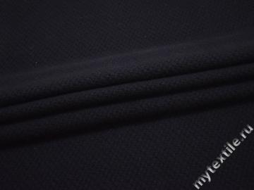 Пальтовая синяя ткань шерсть полиэстер ГЁ135