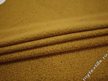 Пальтовая горчичная ткань шерсть полиэстер ГЁ29