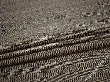 Пальтовая коричневая молочная ткань шерсть ГЁ153