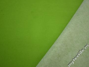 Пальтовая салатовая ткань полиэстер ГЁ46