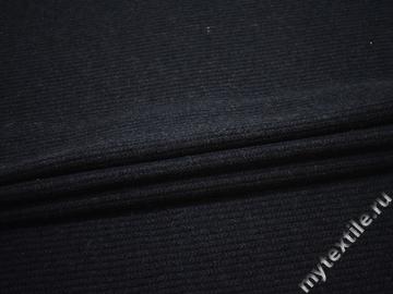 Пальтовая синяя ткань шерсть полиэстер ГЁ320