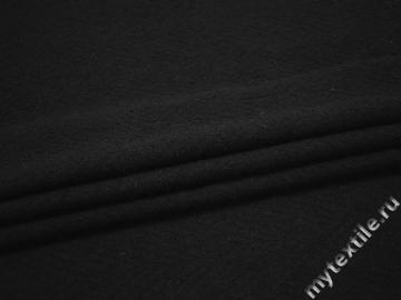 Пальтовая черная ткань шерсть полиэстер ГЁ325