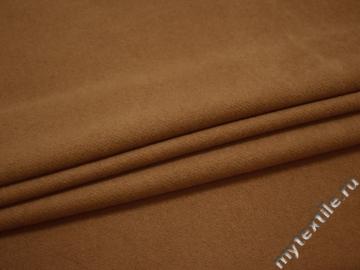 Пальтовая горчичная ткань шерсть полиэстер ГЁ337