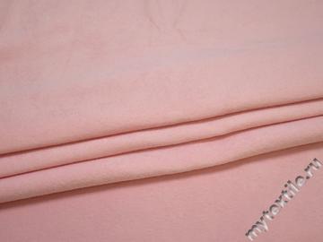 Пальтовая розовая ткань полиэстер ГЁ41