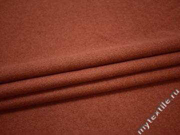 Пальтовая терракотовая ткань шерсть полиэстер ГЁ417