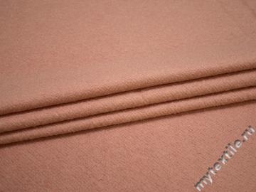 Пальтовая пудровая ткань шерсть полиэстер ГЁ419