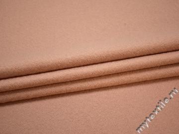 Пальтовая пудровая ткань шерсть полиэстер ГЁ418
