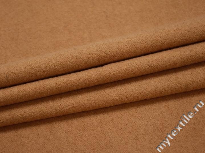Пальтовая бежевая ткань шерсть полиэстер ГЁ425