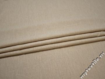 Плательная бежевая ткань хлопок эластан ББ1117