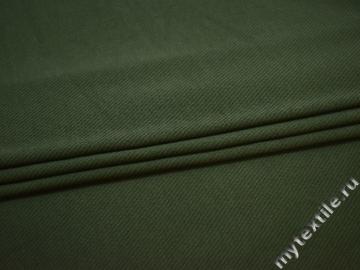 Трикотаж цвета хаки хлопок АД358