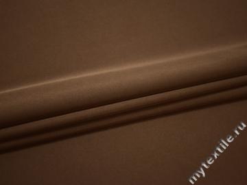 Костюмная коричневая ткань эластан полиэстер ВГ483