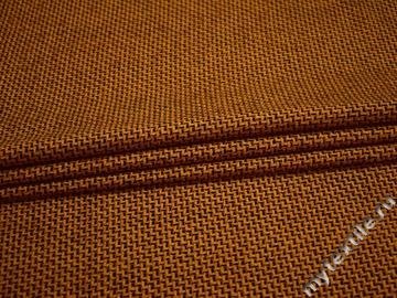 Костюмная желтая черная ткань геометрия шерсть полиэстер ВГ288
