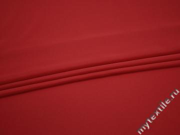 Плательный креп красный полиэстер ДЁ434