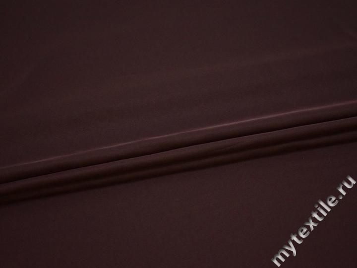 Плательный креп бордовый полиэстер ДЁ441