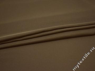 Плательный креп коричневый полиэстер ДЁ447