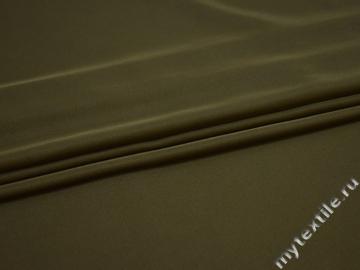 Плательный креп цвета хаки полиэстер ДЁ454