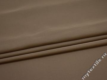 Плательная бежевая ткань полиэстер ДЁ456