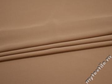 Плательная бежевая ткань полиэстер ДЁ461