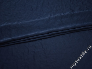 Плательная синяя ткань полиэстер БД7109
