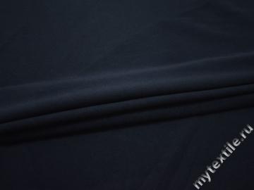 Костюмная синяя ткань полиэстер ГЖ361