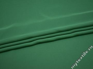 Плательный креп зеленый полиэстер ДЁ475