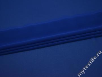 Шифон синий полиэстер ГБ639