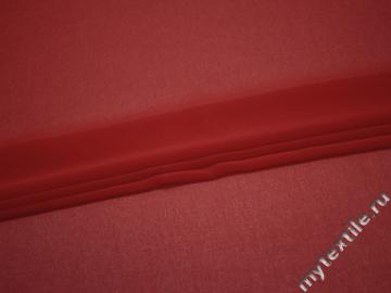 Шифон красный полиэстер ГБ641