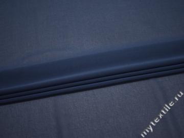 Шифон синий полиэстер ГБ649
